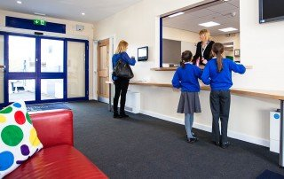 Welcome to Ryecroft Academy's main entrance reception
